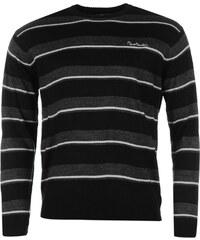 Svetr pánský Pierre Cardin Two Stripe Knitted Black/Char M