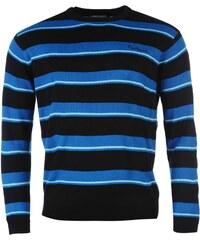 Svetr pánský Pierre Cardin Two Stripe Knitted Navy/Blue