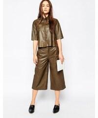 Muubaa - Bello - Jupe-culotte en cuir - Vert