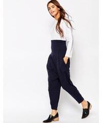 The Furies - Pantalon ample avec ceinture obi - Bleu marine