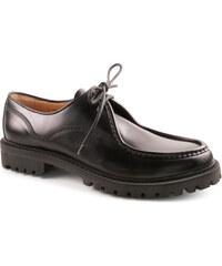 Chaussures à lacets Car Shoe montagne en cuir noir