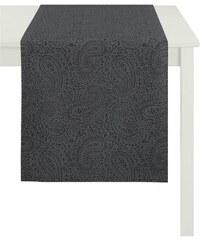 APELT Tischdecke 7907 Uni Paisley grau 1 (85x85 cm),2 (100x100 cm),3 (150x250 cm)