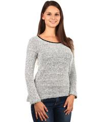 TopMode Elegantní svetřík s výkrojem a mašlemi na zádech bílá