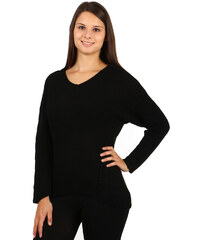 TopMode Úžasný svetr se vzorem na zádech černá