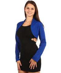TopMode Elegantní společenské bolerko s dlouhým rukávem modrá