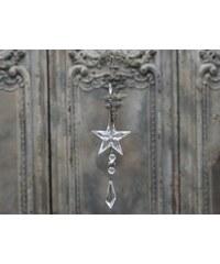 Chic Antique Dekorativní Crystal star 26cm