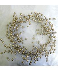 StarDeco Perly stříbrné 200 cm