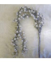 StarDeco Perly bílé 77cm
