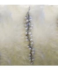 StarDeco Perly bílé 25 cm