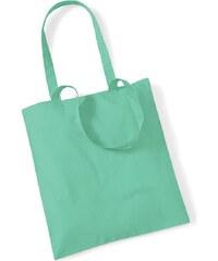 Plátěná taška - Mentolově zelená univerzal