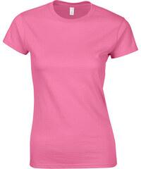Přiléhavé tričko - Azalkově růžová S