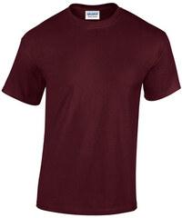 Bavlněné tričko Gildan Heavy - Hnědočervená S
