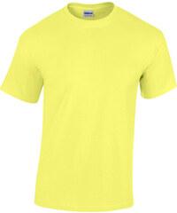 Bavlněné tričko Gildan Heavy - Světle žlutá S