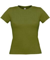 Tričko na tělo - Olivově zelená XS