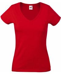 Tričko Lady-Fit - Červená XS