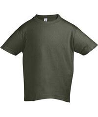 Tričko Sols Klasik - Vojenská zelená 92 (1-2)