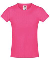 Dívčí tričko Softspun - Fuchsiová 104 (3-4)
