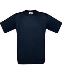 Silnější bavlněné tričko - Indigově modrá S