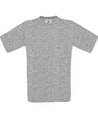 Silnější bavlněné tričko - Šedý melír XS