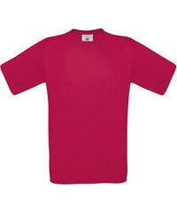 Silnější bavlněné tričko - Tmavě růžová S