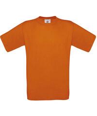Silnější bavlněné tričko - Oranžová XS