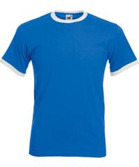 Tričko s barevnými lemy - Modrá s bílou S