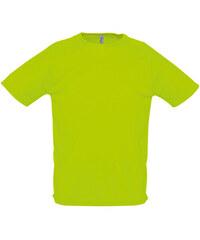Tričko na sport - Neonová zelená XXS