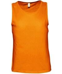 Tílko na tělo - Oranžová S