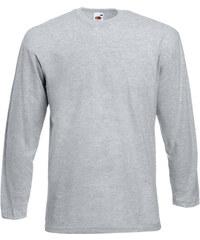 Tričko s dlouhým rukávem - Šedý melír S