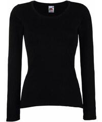 Tričko s dlouhým rukávem Lady-Fit - Černá XS