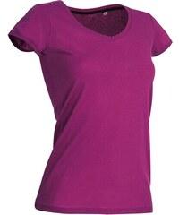Tričko s kulatým výstřihem - Sytě růžová S