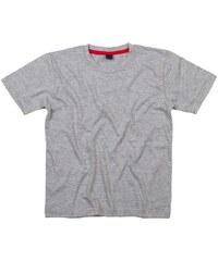Měkoučké dětské tričko - Šedá s červenou 2-3