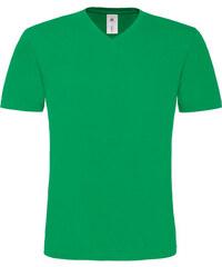 Trendy tričko do V - Zelená S