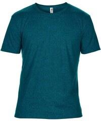 Hedvábné tričko Anvil - Petrolejová S