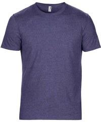 Hedvábné tričko Anvil - Modrá žíhaná S