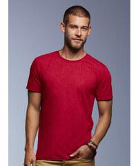 Hedvábné tričko Anvil - Červená S