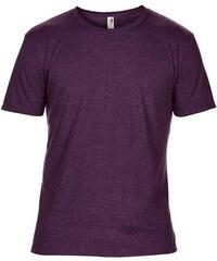 Hedvábné tričko Anvil - Fialová S