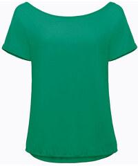 Letní tričko s širokým výstřihem - Tyrkysová M/L