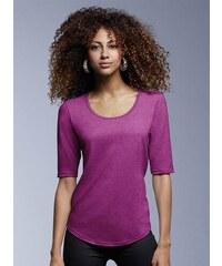 Hedvábné tričko s 3/4 rukávy - Růžová XS