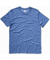 Pohodlné měkké tričko - Modrá žíhaná S