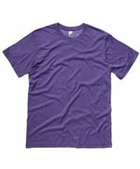 Pohodlné měkké tričko - Fialová žíhaná S