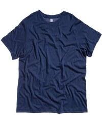 Pohodlné měkké tričko - Námořnická modrá žíhaná S