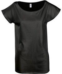Prodloužené elegantní tričko - Černá M