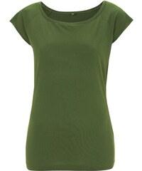 Trendy bambusové tričko - Olivová M