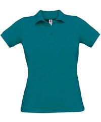 Polokošile z piqué bavlny - Modrozelená XS