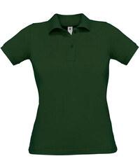 Polokošile z piqué bavlny - Lahvově zelená XS