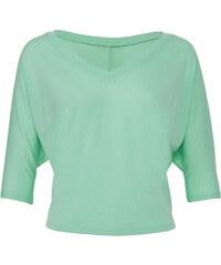 Stylové volné tričko - Mentolově zelená S