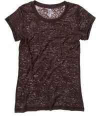 Stylové poloprůsvitné tričko - Čokoládově hnědá S