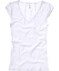 Tričko s hlubokým výstřihem - Bílá M