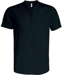 Sportovní tričko na zip - Černá XS